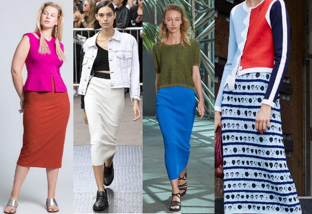 Стильные макси юбки 2018 года