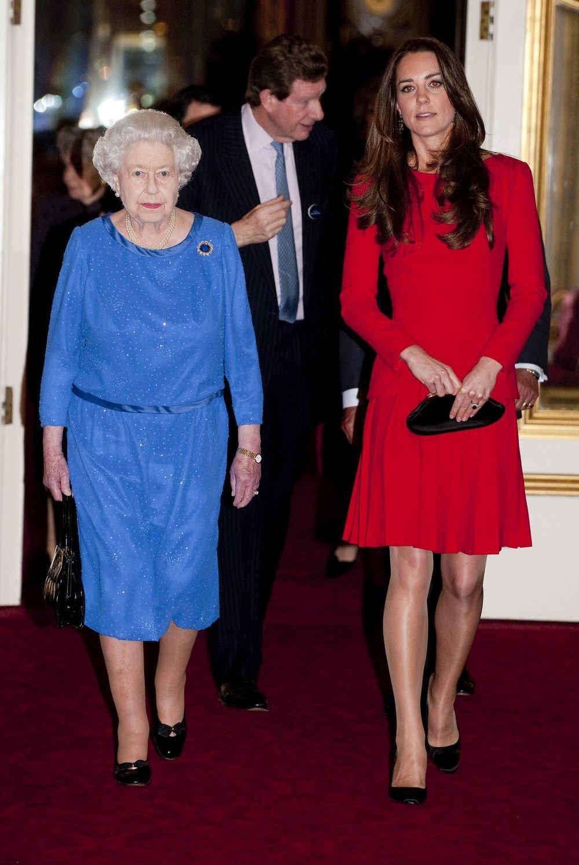 Принцесса Кейт и королева Елизавета