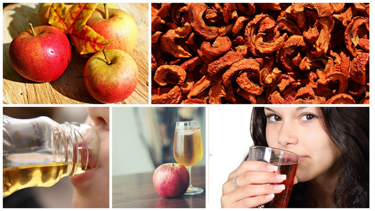 Сидр из свежих и сушеных яблок
