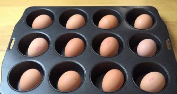 приготовить яйца в духовке