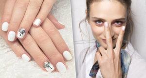 Как можно накрасить ногти белым лаком