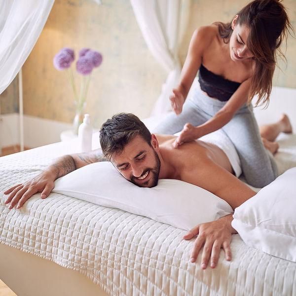 массаж для мужа